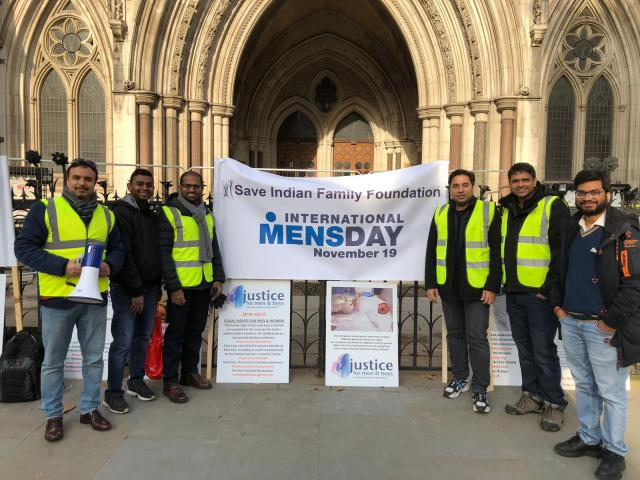 March For Men Organised by SIFF at The Royal Court of London
