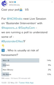 NCW poll which was later removed