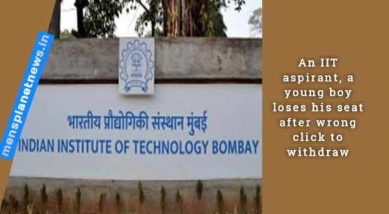 An IIT aspirant, a young boy loses his seat after wrong click to withdraw