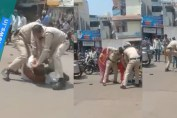 Indore police mercilessly thrashed a man in front of his child, suspended