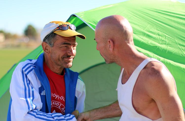 Yiannos with fellow ultrarunner Joe Fejes