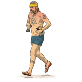 the running hippy