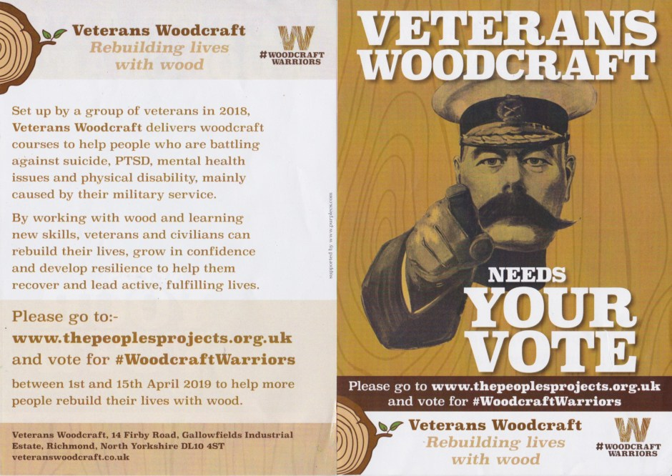 Veterans Woodcraft Needs Your Vote! - UK Mens Sheds Association