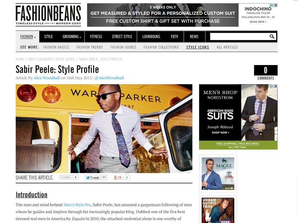 Men's Style Pro on FashionBeans.com