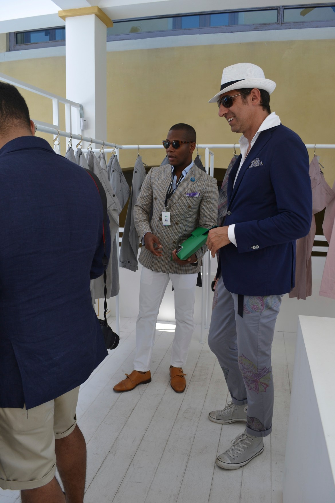 Eyeing up a collections at Pitti