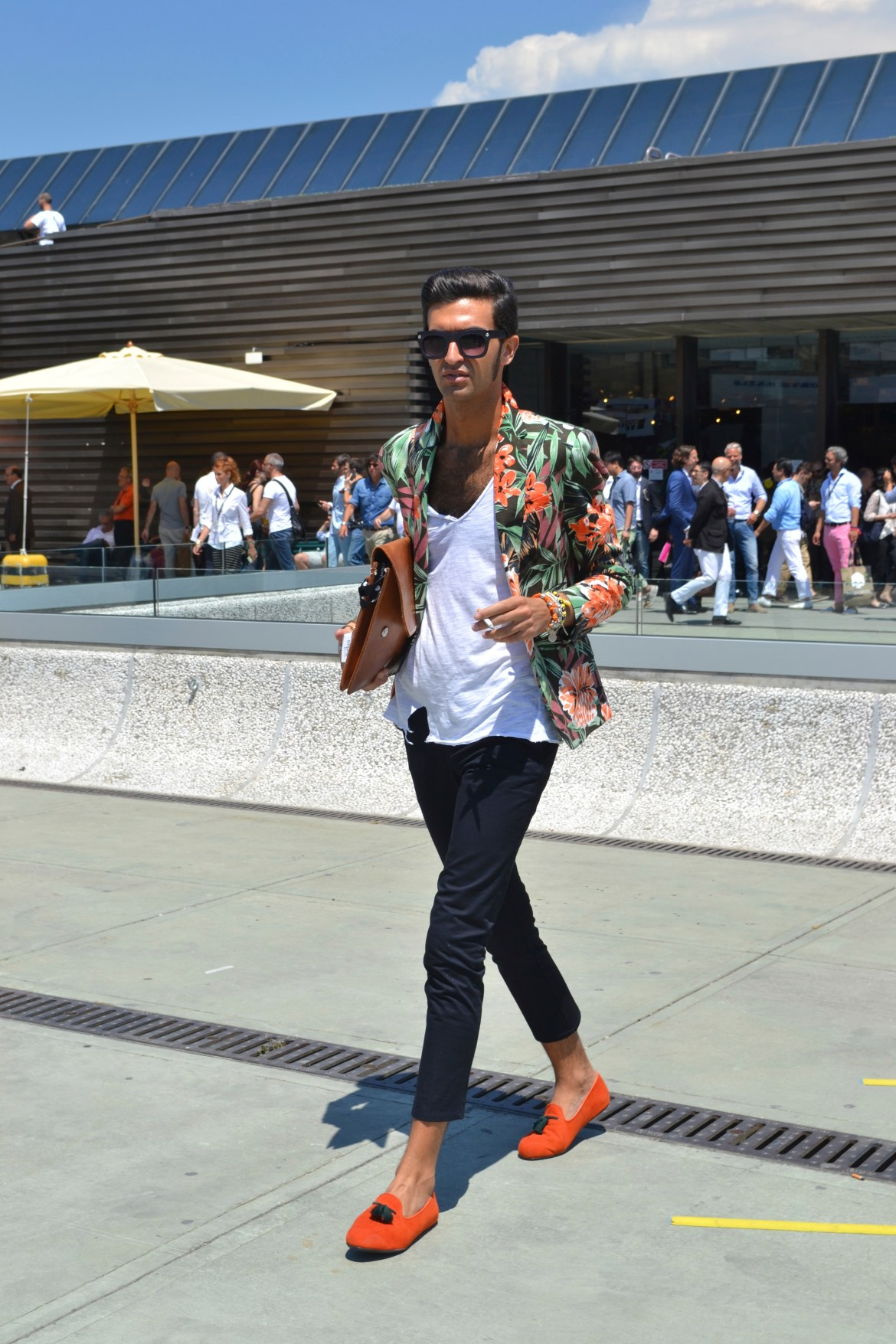 Florals were a big trend of Pitti this summer