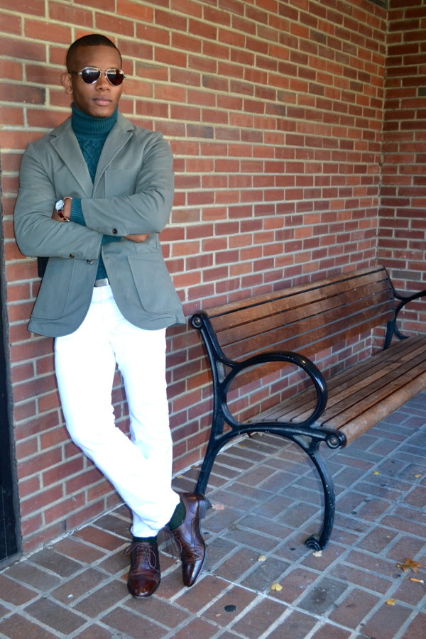 Die Proper Read to Wear Brush Cotton Twill Moss Jacket by Commonwealth Proper