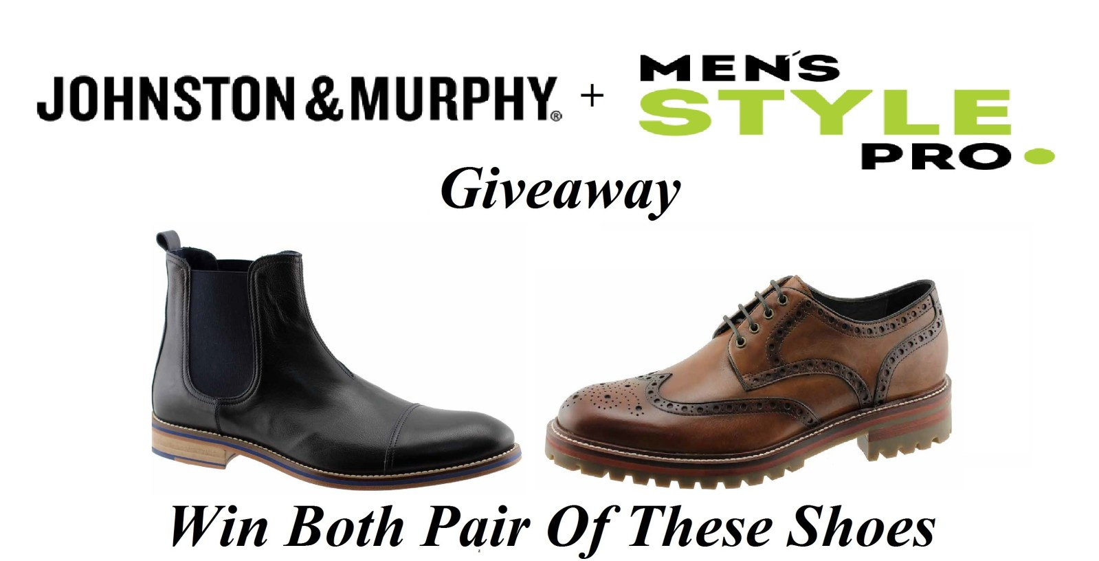 Johnston & Murphy Holiday Giveaway via Men's Style Pro