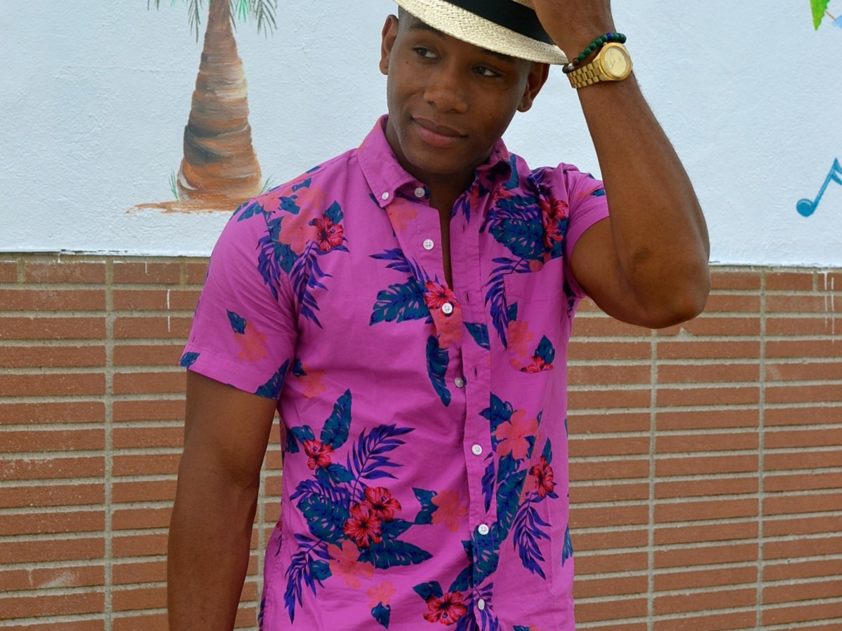 Men's style Pro in Lanai Floral Shirt