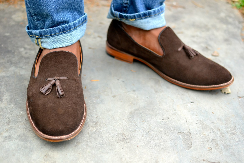 Beckett Simonon Brown Tassel Loafers