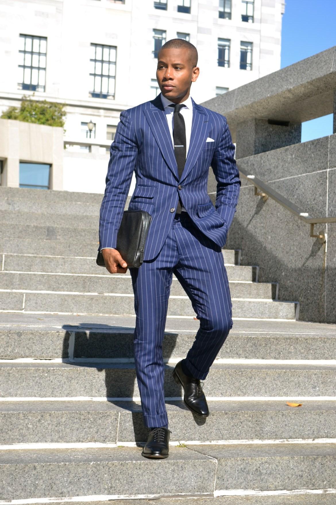 Imparali Custom Tailors Chalk Striped Edinburgh Suit