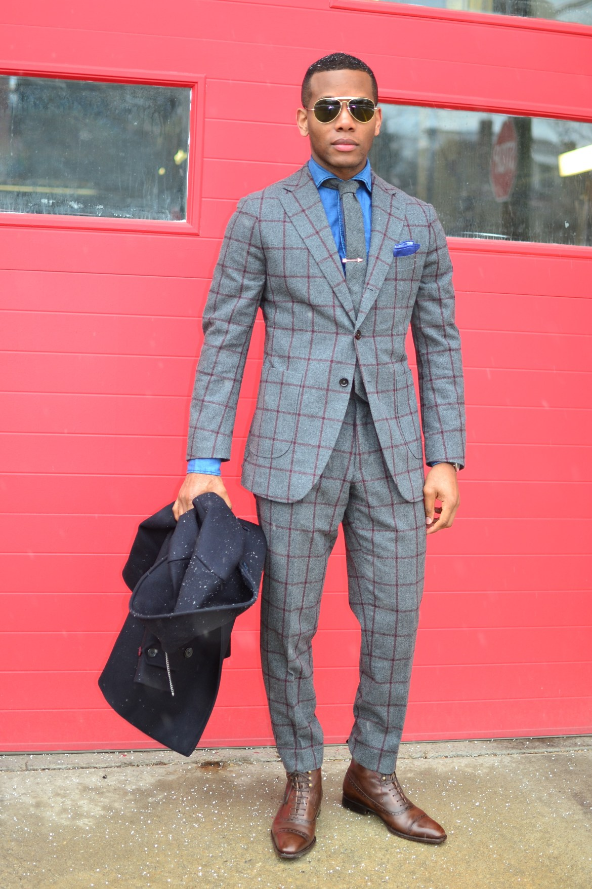 Knot Standard Ariston Windowpane Suit