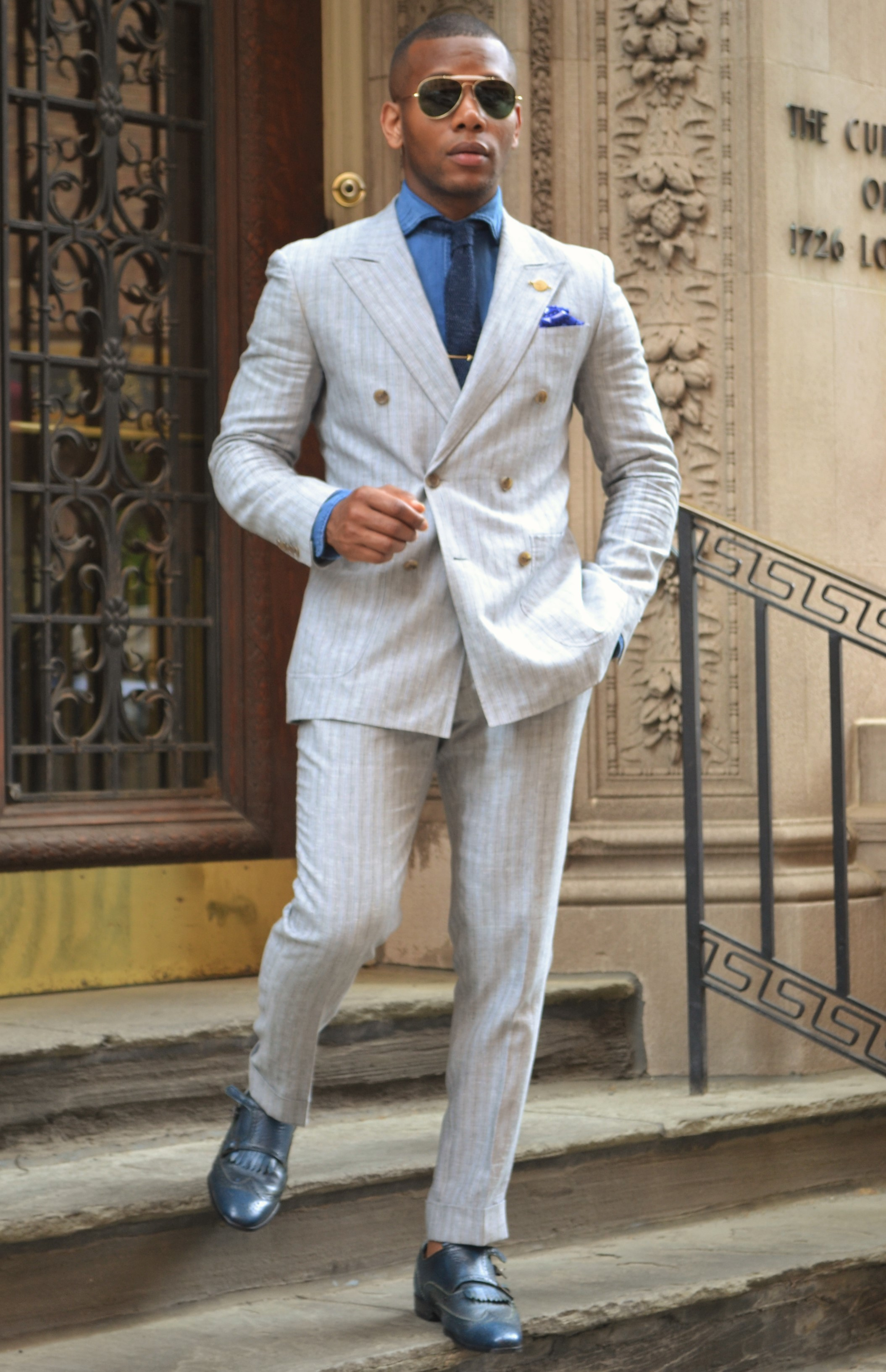 Sabir M. Peele In Indochino Linen Suit