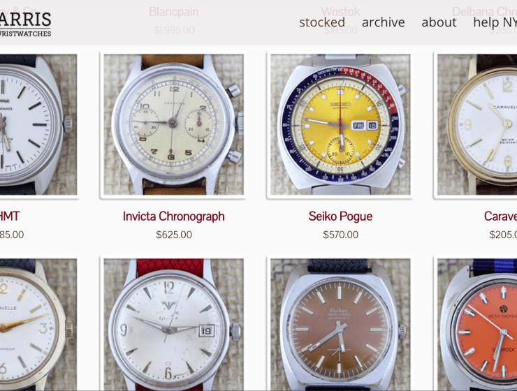 Theo & Harris Vintage Watches Header Image
