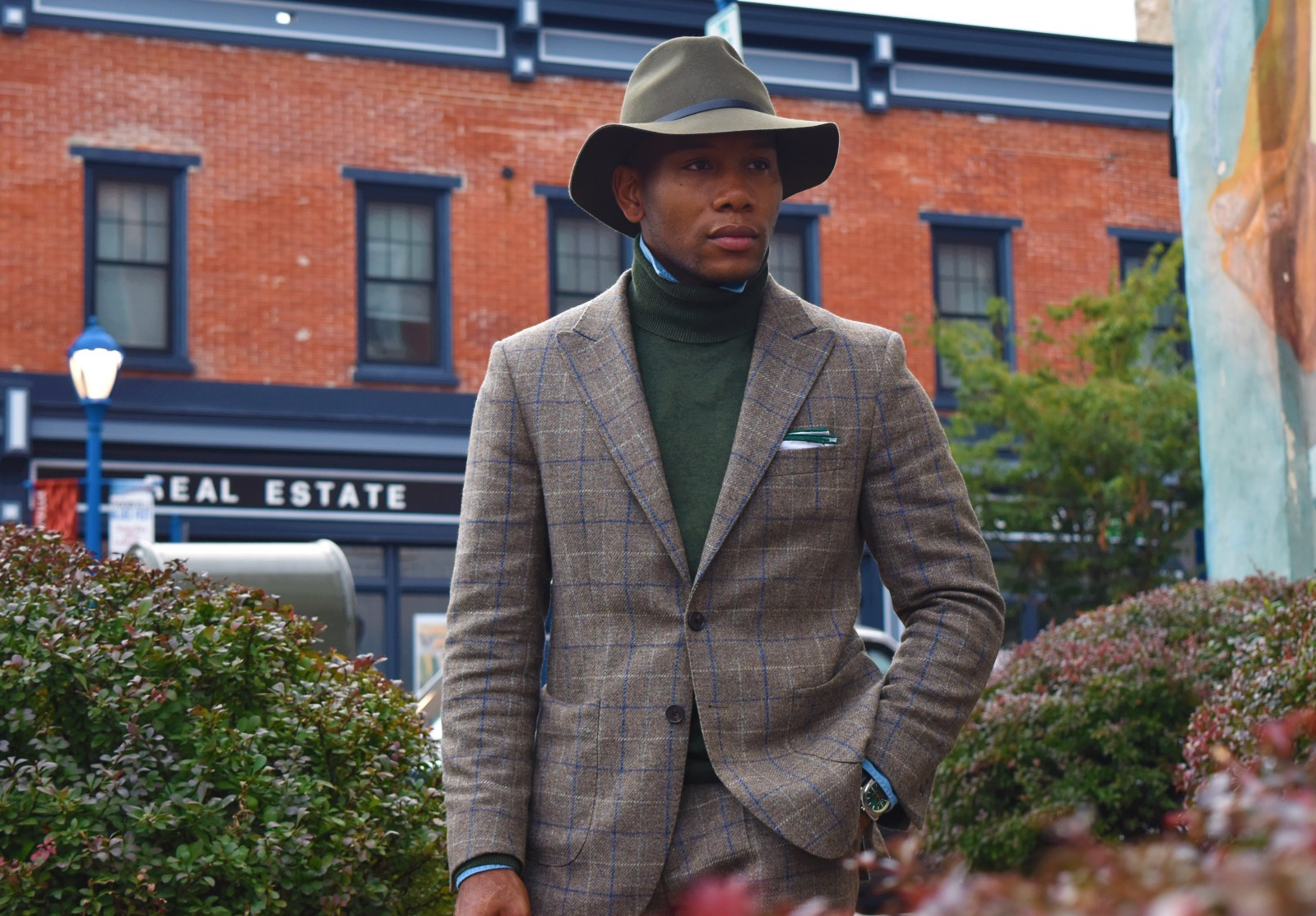 Oliver Wicks Check Tweed Suit