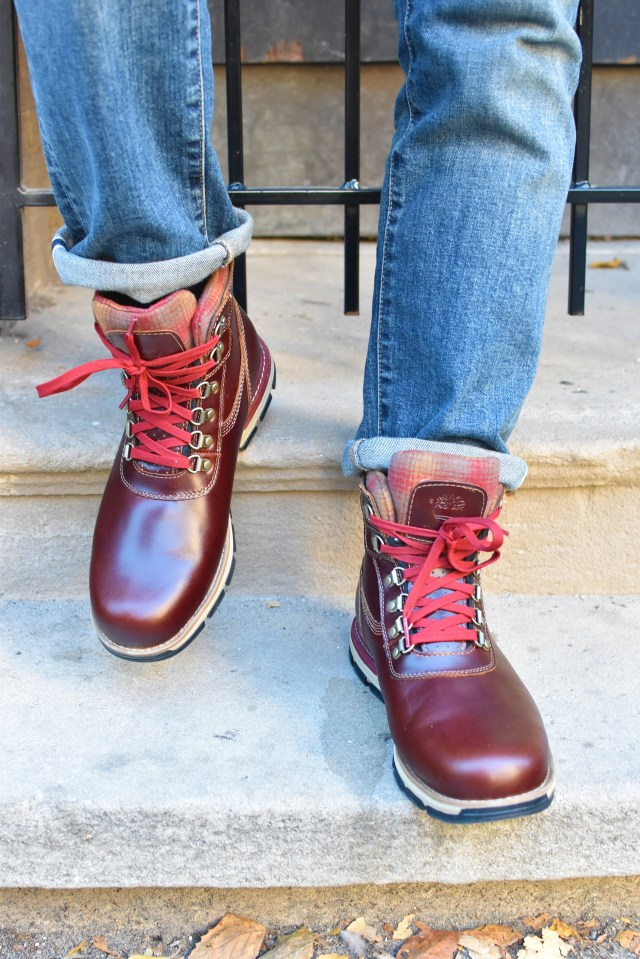 Sabir M. Peele of Men's Style Pro in Timberland Hiking Boots 8