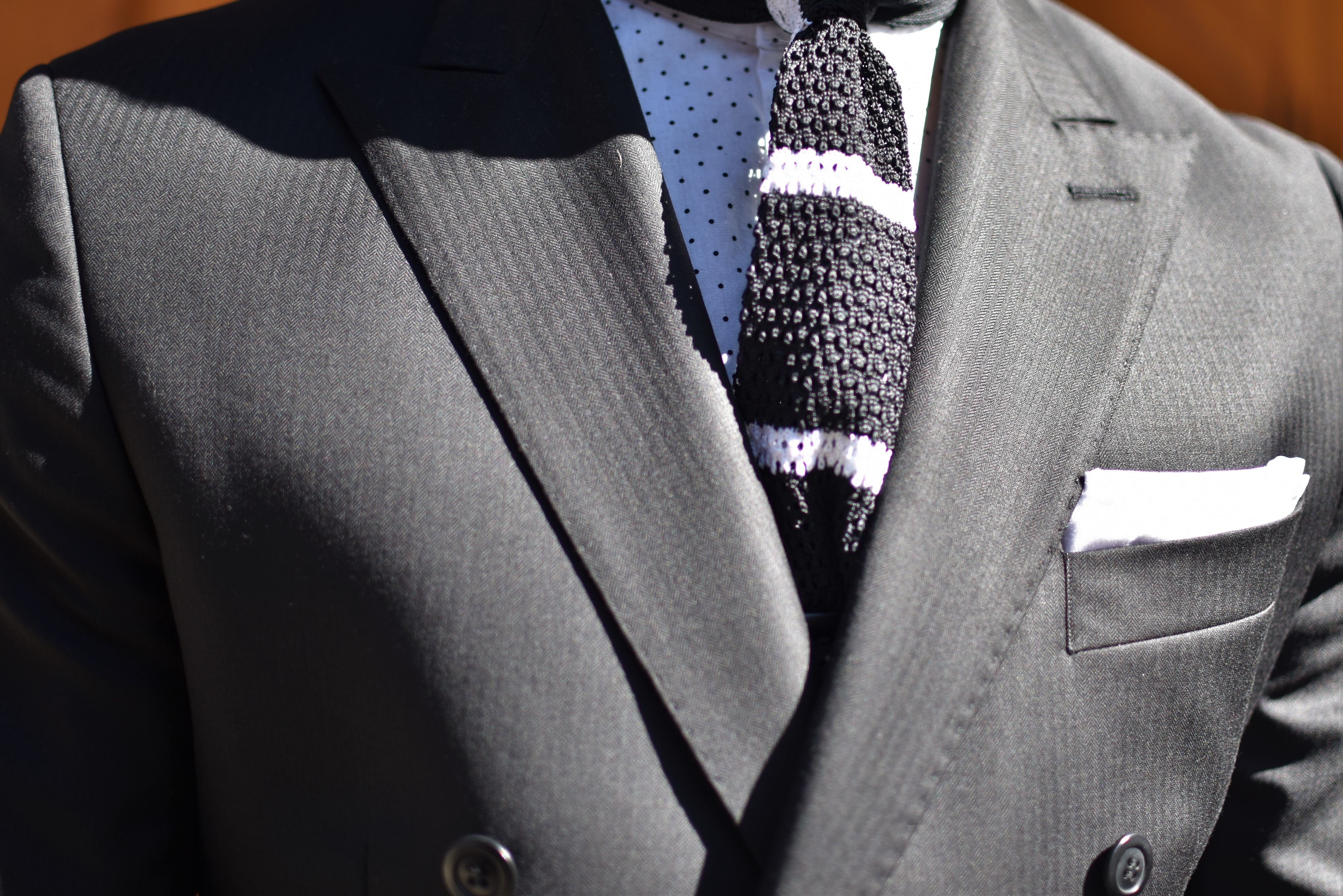 Men's Style Pro in Oliver Wicks Black Double Breast Suit