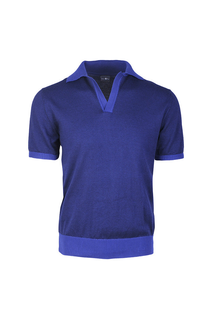 Stone Rose Ultramarine Retro Polo Shirt