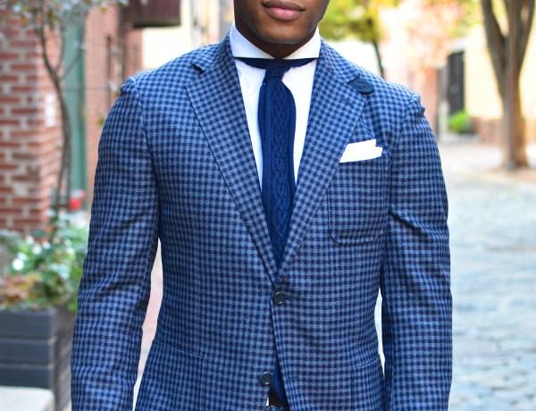 Sabir M. Peele wearing Knot Standard Blazer