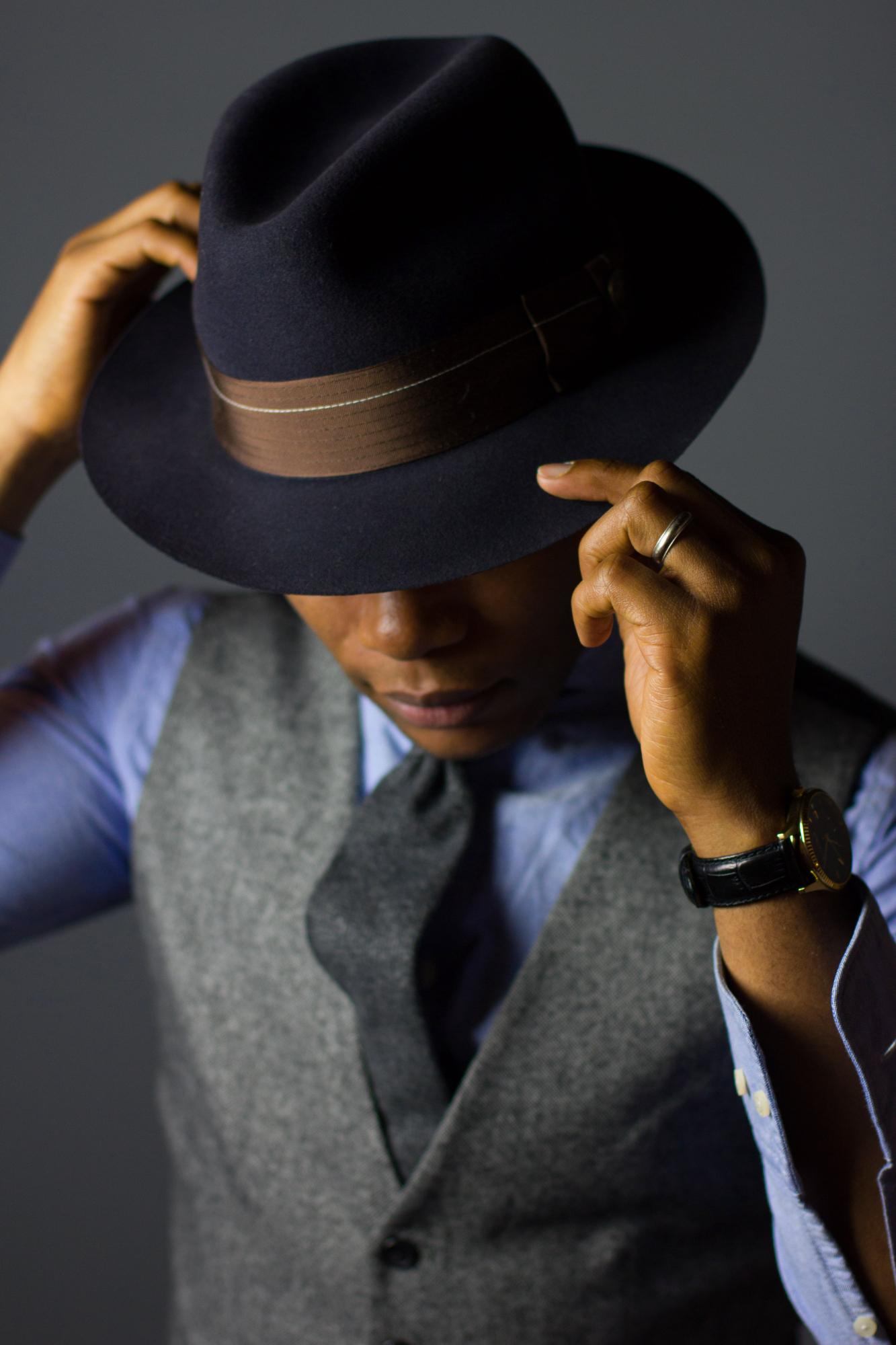 Sabir M Peele of Men's style pro in brimmed hats from goorin bros