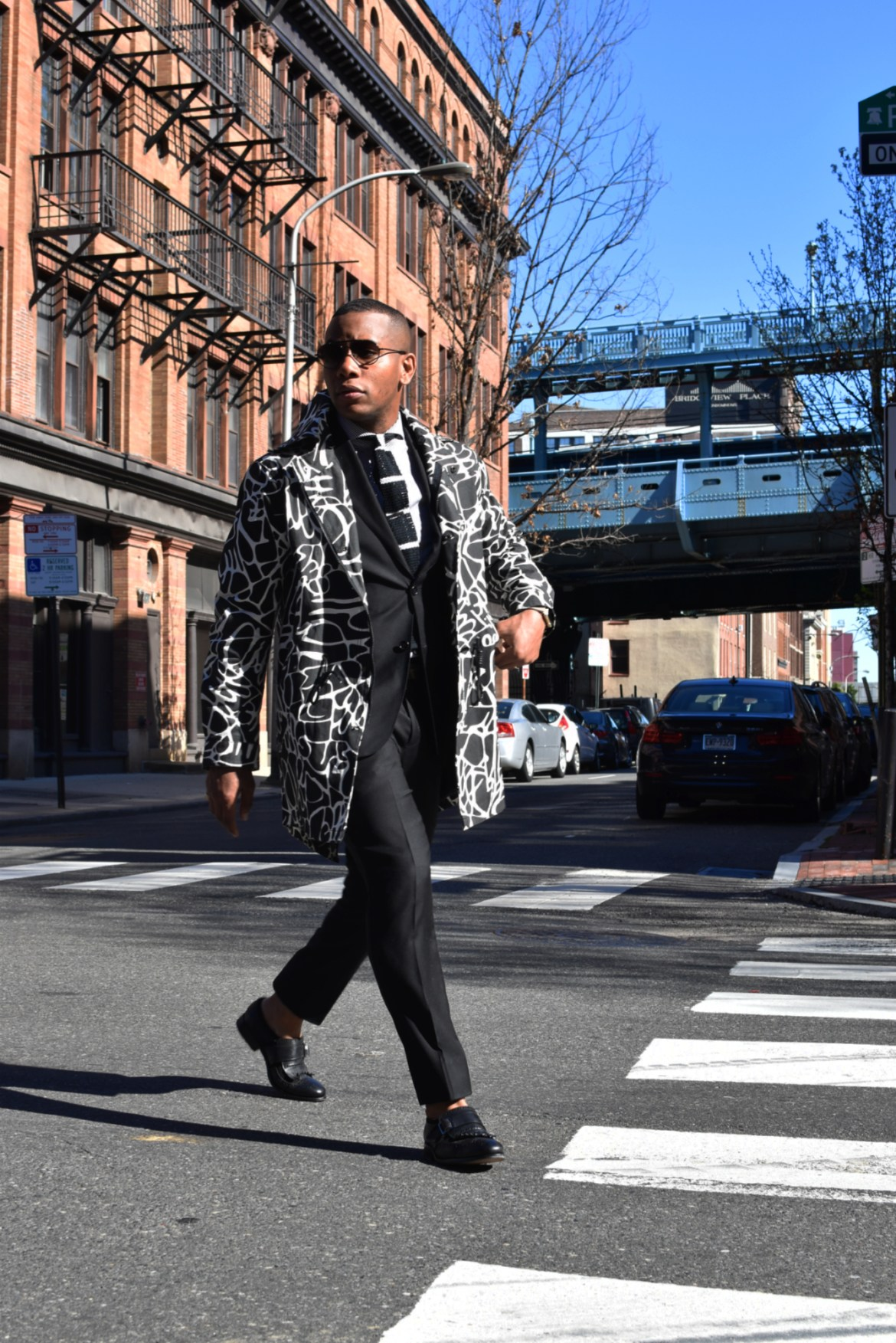 Sabir of Men's Style Pro in BWC Garments Black & White Jacket Bold Outerwear