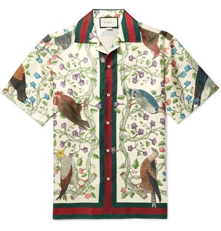 Gucci Camp Collar Silk Floral Shirt - Mr Porter