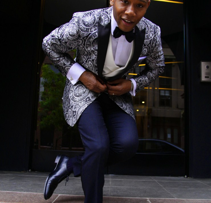Tallia Orange Amped Up Formalwear with Men's Style Pro