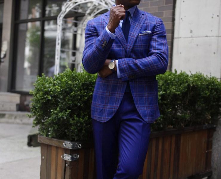 Sabir M. Peele in Lanieri Hemp Blazer