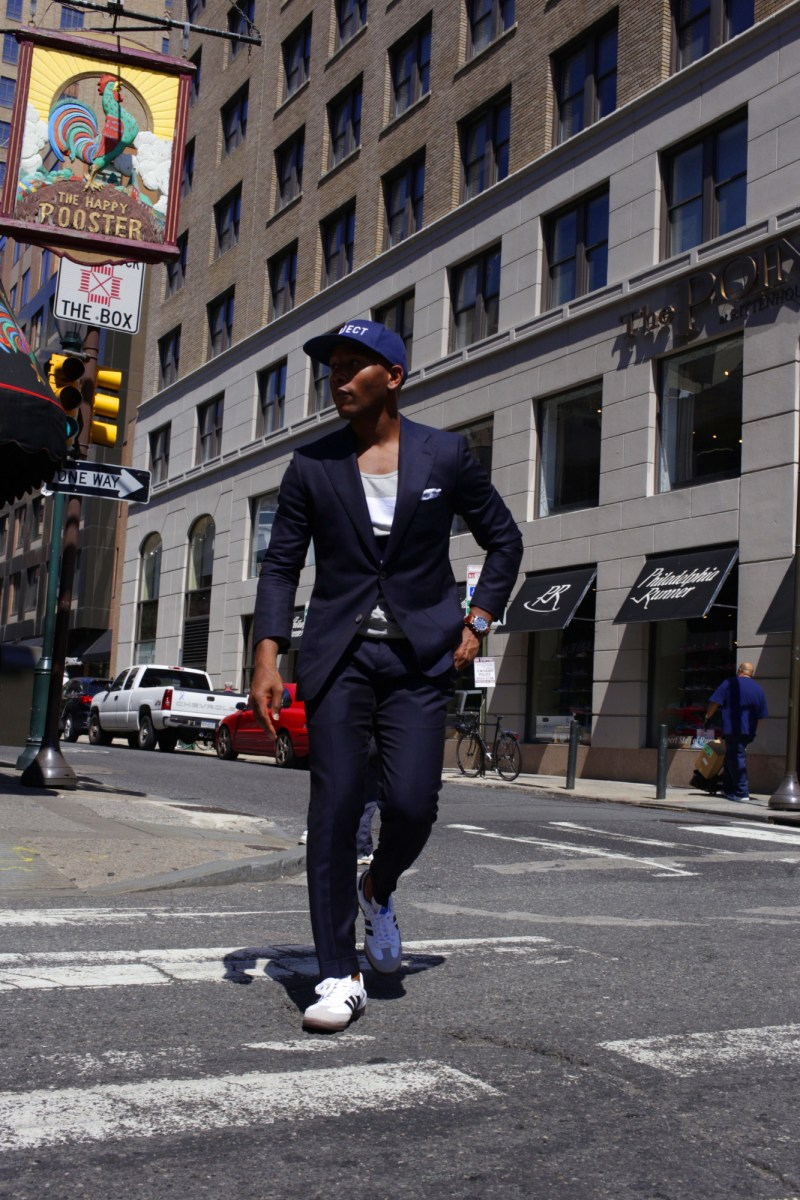 Summerize Your Navy Suit 3 Ways