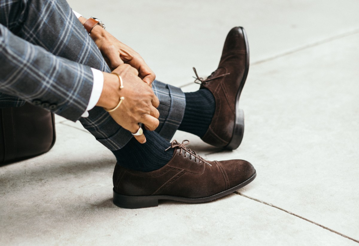 Footwear Essentials: Chocolate Brown Suede Oxfords