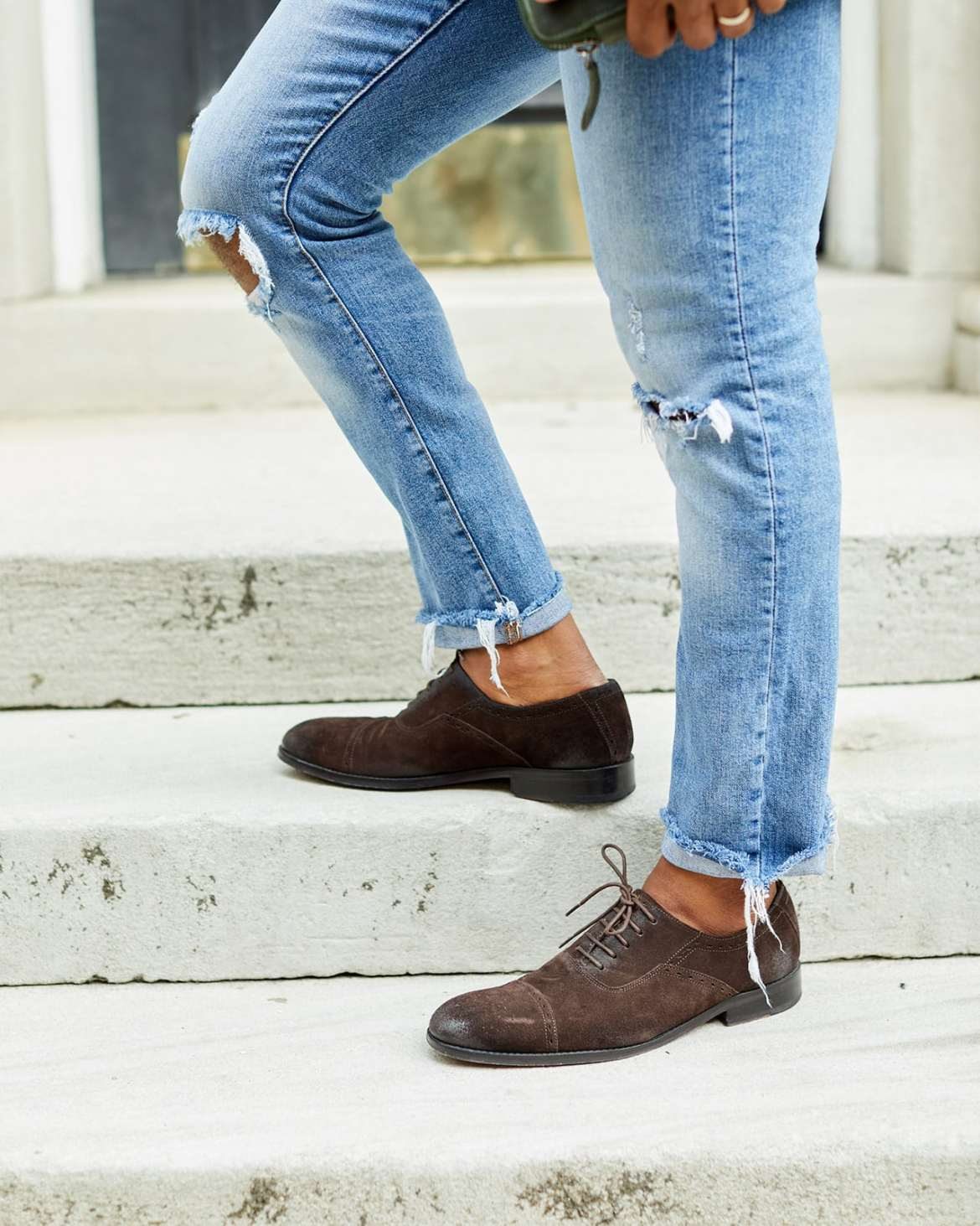 Cobble & Hyde Suede Chocolate Loafers
