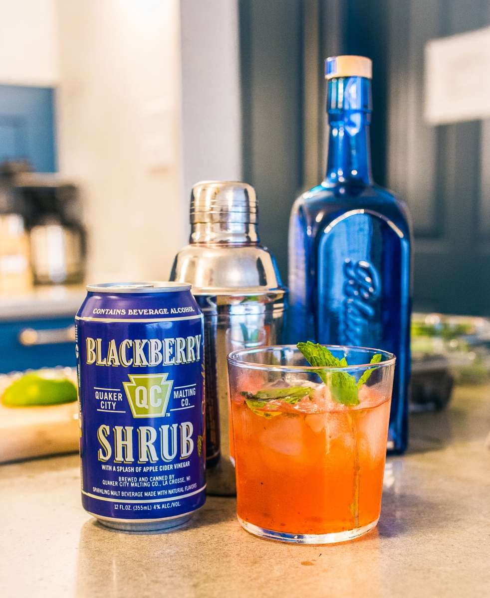 Fall Drinks: QC Shrubs Blackberry Gin Spritz