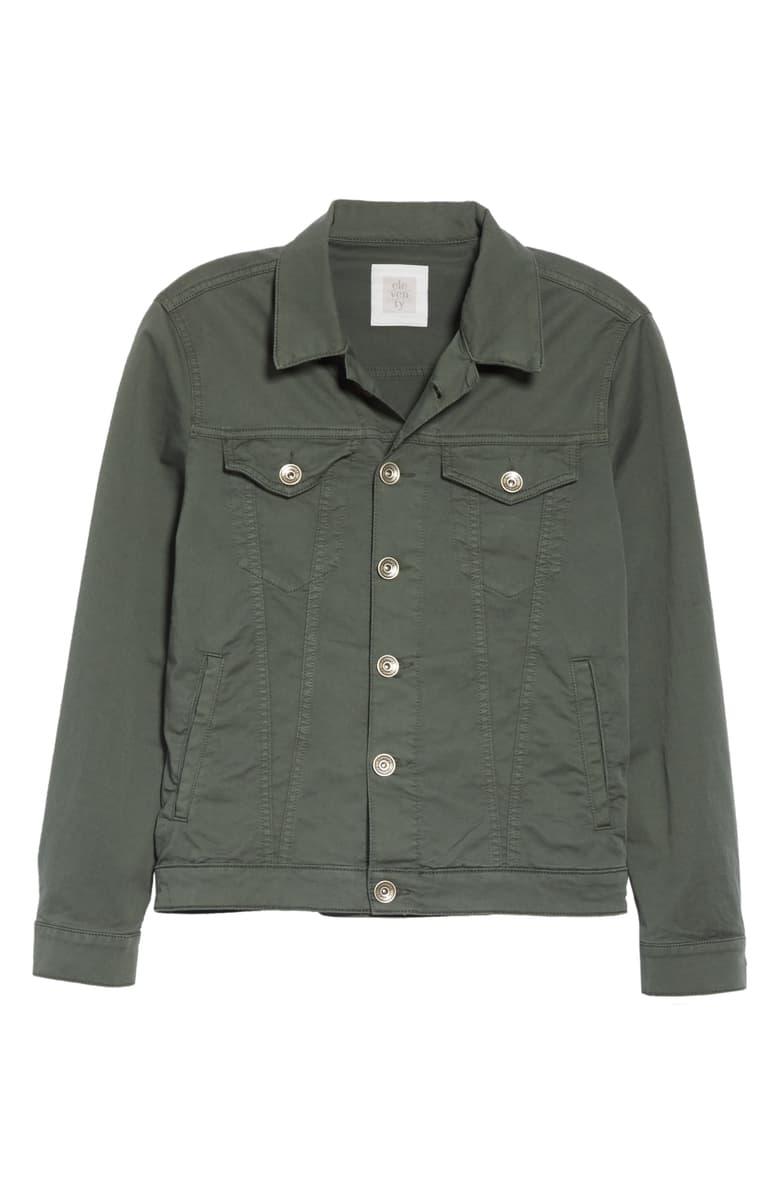 Eleventy Green Trucker Jacket