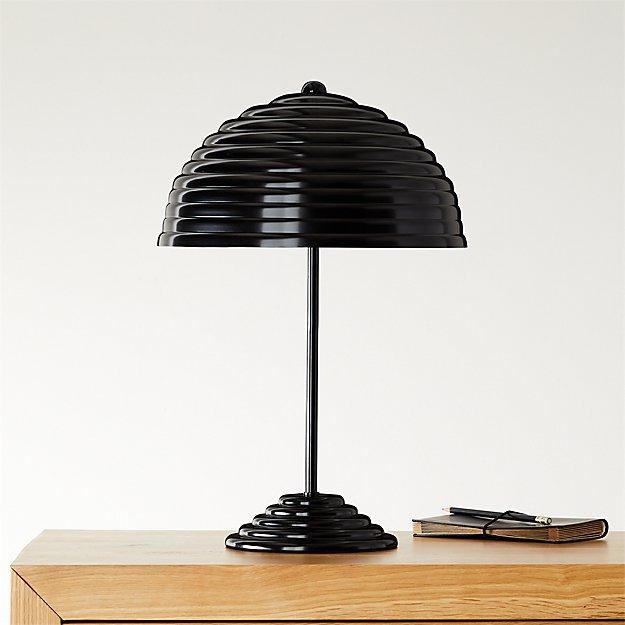 Ripley All Black Desk Lamp CB2+GQ