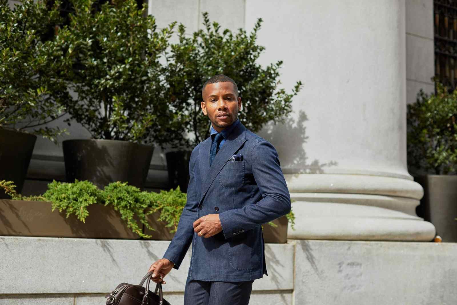 ModaMatters Denim Suit on Men's Style Pro