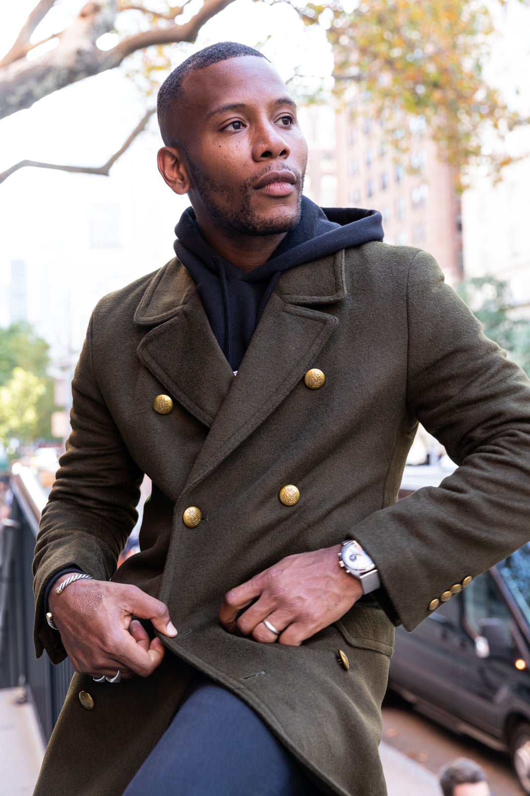 Military Inspired Overcoat Tallia for Macys