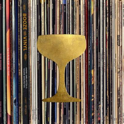 Booze & Vinyl Hardcover Book