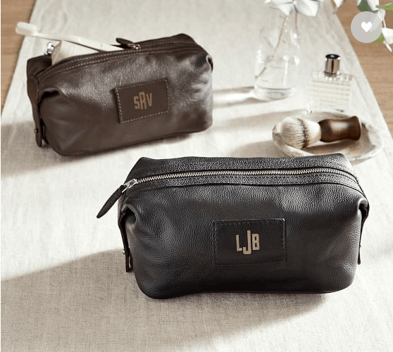 Grant Leather Dopp Kit via Pottery Barn