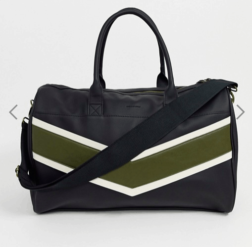 Asos Chevron Duffle Bag