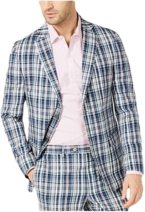Ralph Lauren Madras Plaid Suit Jacket
