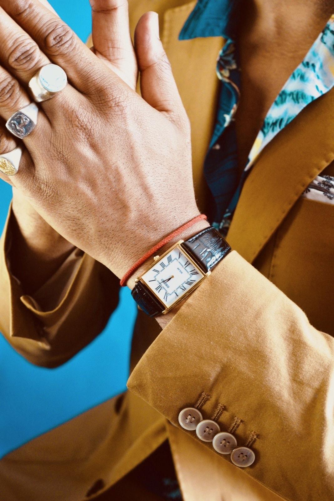 Sabir M. Peele of Men's Style Pro wearing Seiko Watch