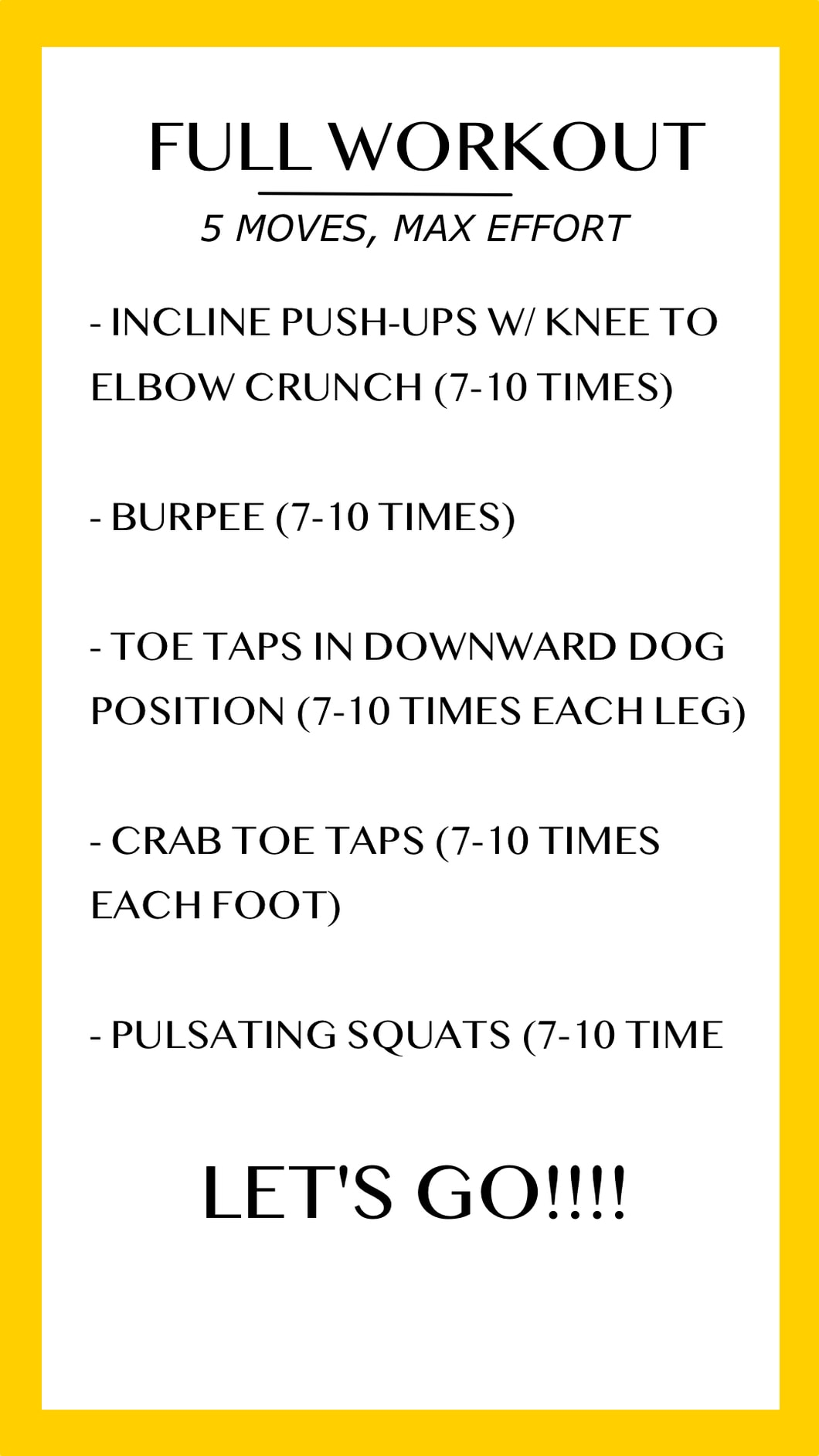 Exercise HIIT Workouts layout