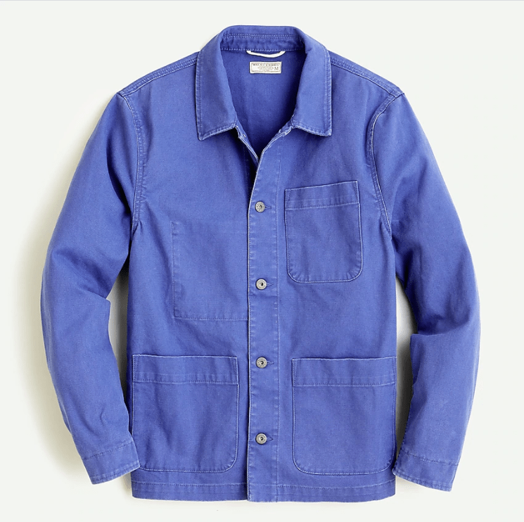 Wallace & Barnes x J.Crew Chore Shirt French blue