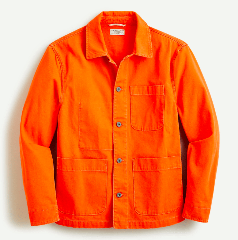 J.Crew x Wallace and Barnes Chore Shirt in ORANGE