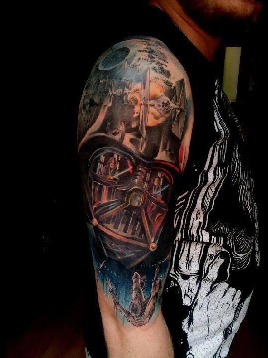 Star Wars Half Sleeve Tattoo : sleeve, tattoo, Tattoos, Designs, Ideas