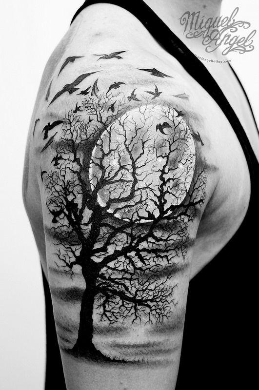 Dark Tree Tattoo : tattoo, Tattoos, Ideas, Designs