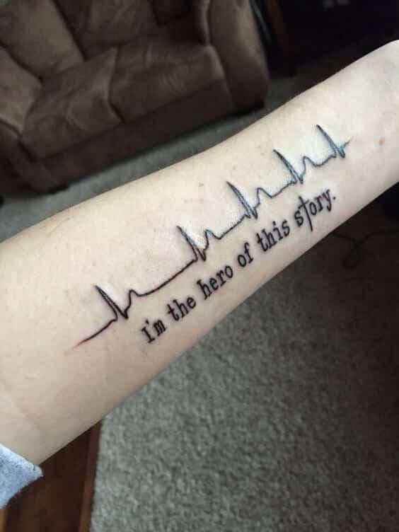 Heartbeat Lines Tattoo : heartbeat, lines, tattoo, Heartbeat, Tattoos, Ideas, Inspiration