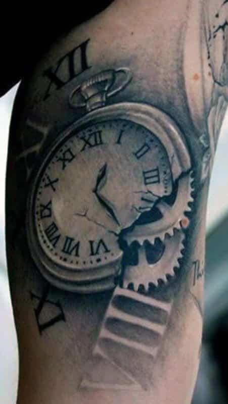 Roman Numeral Clock Tattoo : roman, numeral, clock, tattoo, Roman, Numeral, Tattoos, Ideas, Designs