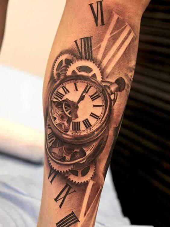 Roman Numeral Clock Tattoo : roman, numeral, clock, tattoo, Clock, Tattoos, Ideas, Designs