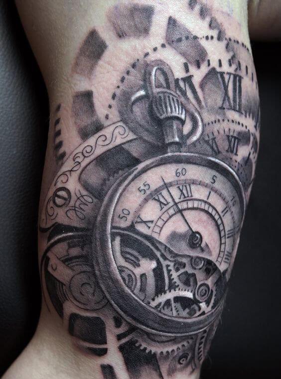 Double Pocket Watch Tattoo : double, pocket, watch, tattoo, Clock, Tattoos, Ideas, Designs